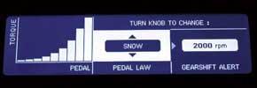 Snow: зимний режим для движения по снегу и льду; отклики на нажатие педали газа наиболее мягкие.