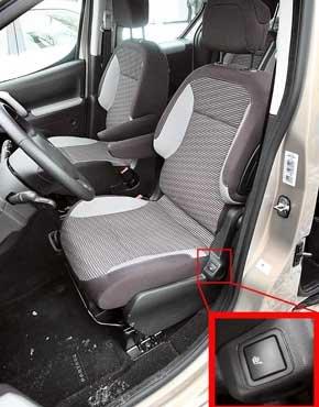 Высоким водителям не хватает продольной регулировки сиденья, но места над головой достаточно. Есть и регулировка высоты кресла. Подогрев сидений  опция.