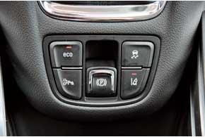 За включение системы Start/Stop отвечает кнопка Eco, а три другие отвечают за парктроник, систему слежения за дорожной разметкой и ESP.