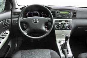 Интерьер BYD до мелочей повторяет Toyota Corolla 2000 года. Правда, он несколько упрощен. Например, здесь нельзя перекрыть поток воздуха из центральных дефлекторов.