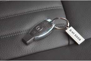Ключ зажигания Viano идентичен ключу легкового автомобиля S-класса.