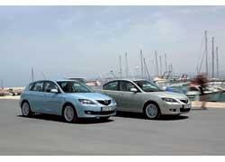 Mazda3 первого поколения появилась в 2003 году.