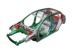 Повышение жесткости корпуса кузова обеспечивают поперечины , связывающие стойки подвесок.