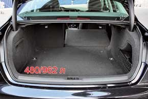 Объем багажника можно легко увеличить с 480 до 962 литров, ведь спинки заднего дивана складываются в пропорции 40:60 в базовом оснащении.