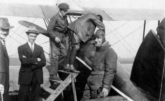 Франц Зено Димер и самолет с двигателем BMW IIIa (BMW IV)