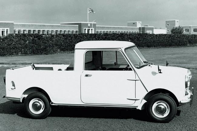 До выхода на пенсию Алек Иссигонис успел поработать над несколькими модификациями Mini. Одной из них стал пикап на базе малолитражки
