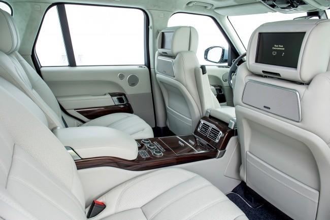 В четырехместном исполнении салон Range Rover еще более роскошен