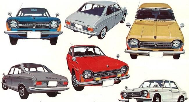 Эволюция Subaru 1000