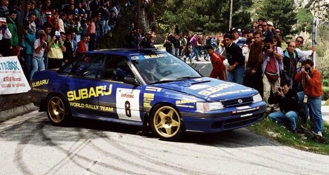 Subaru Legacy на ралли Tour de Corse в 1993 году