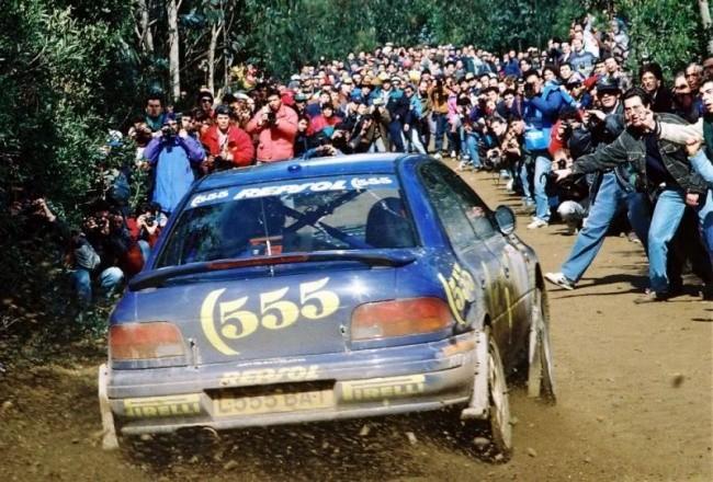 Subaru Impreza на этапе WRC