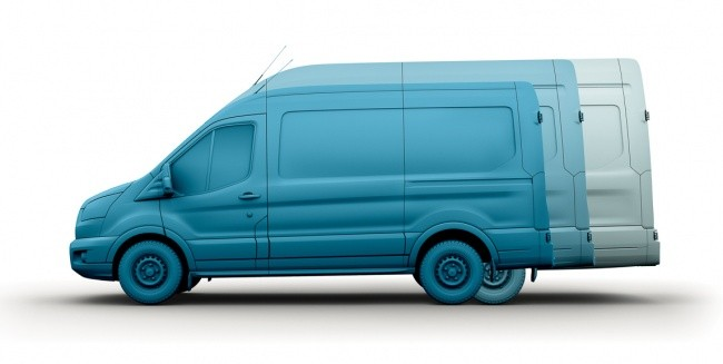 Фургон Transit может иметь три варианта колесной базы и два уровня крыши
