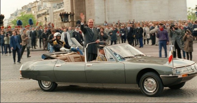 Президентский Citroen SM возле Триумфальной арки