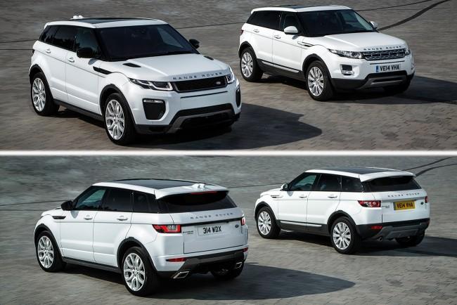 Подсказка: рестайлинговый Range Rover Evoque на переднем плане