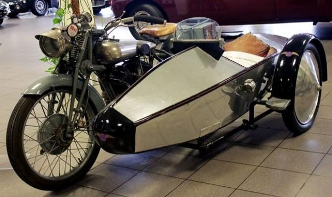 Пятиугольная коляска Swallow Sidecars Model 4. 1922 год
