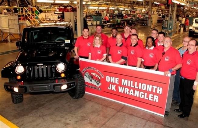 В мае 2013 года, с конвейера сошел миллионный Jeep Wrangler