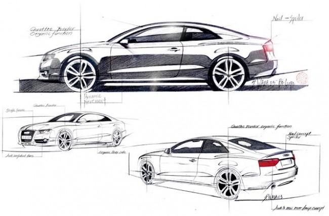 Audi A5 официальный скетч