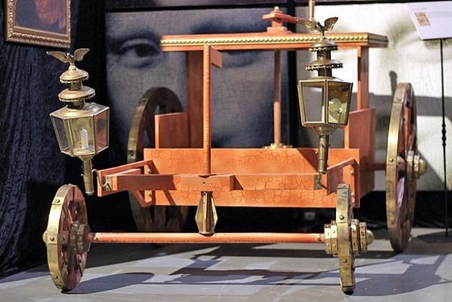 1506 года телега с ручным приводом на все колеса