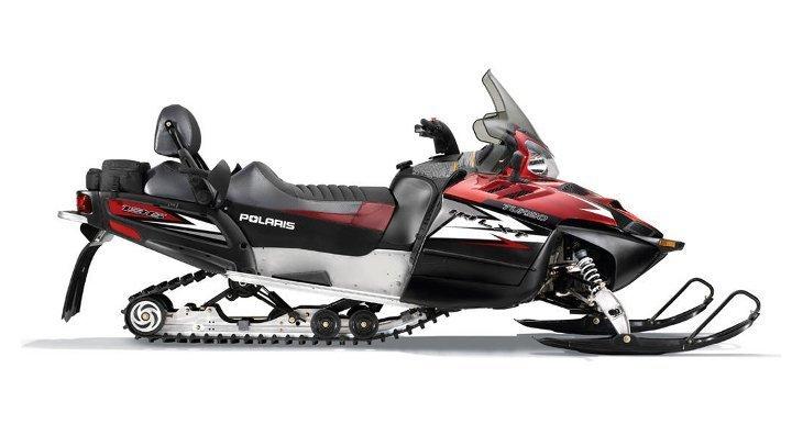Новые туристические снегоходы Polaris 2012 года:Turbo IQ LX с двигателем 750 см³, двухместный снегоход 600...