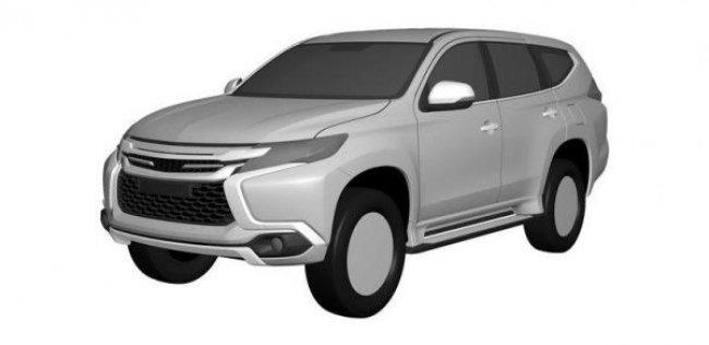 Дизайн нового Mitsubishi Pajero Sport рассекречен на патентных изображениях