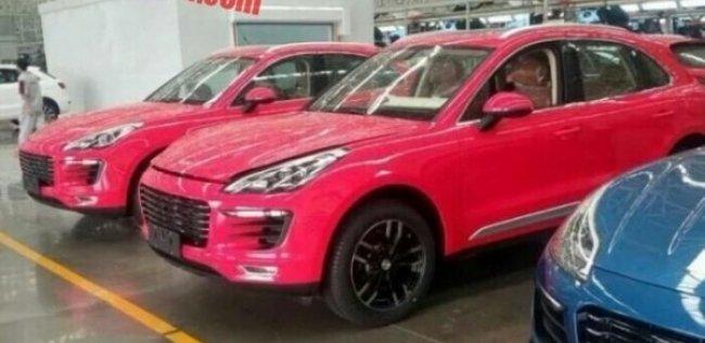 Китайский Porsche Macan в розовом цвете – гламур и понты за недорого