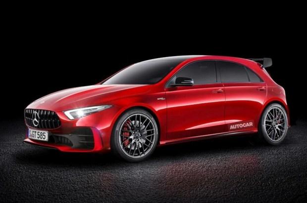 Предполагаемый внешний вид нового Mercedes-AMG A45 с элементами дизайна концепта Concept A Sedan. Иллюстрация Autocar