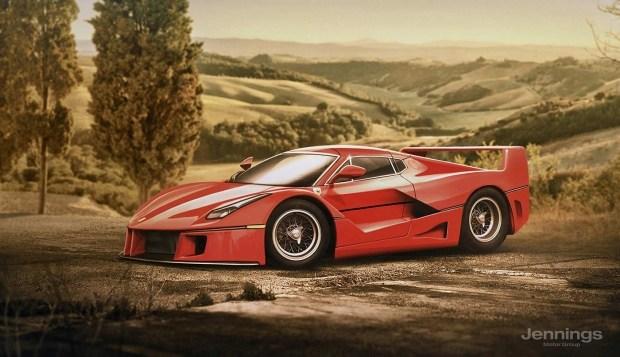 Ferrari LaFerrari Retro Concept
