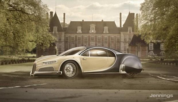 Bugatti Chiron Retro Concept
