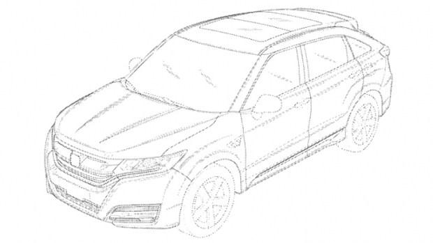 Патентные скетчи нового кроссовера Honda для США