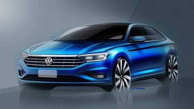 Скетч седана Volkswagen Jetta нового поколения