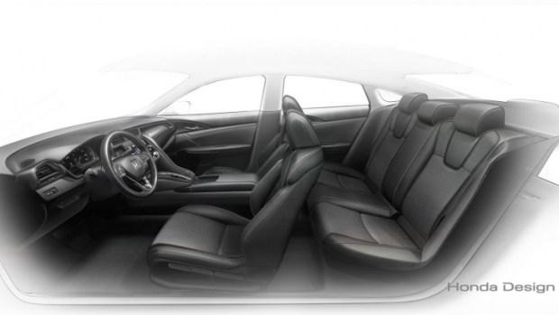 Дизайнерский скетч гибридного седана Honda Insight Prototype