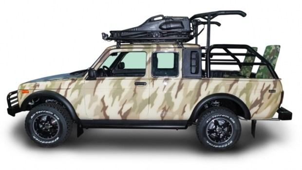 Внедорожник LADA 4x4 Pick-Up, предназначенный для охоты