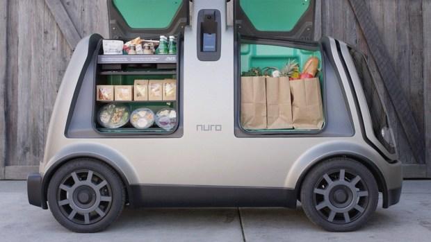 Бывшие работники Google представили беспилотный фургон для доставки товаров