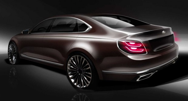 Киа показали дизайн обновленного поколения седана Quoris