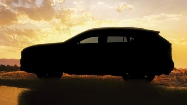 Официальный тизер внедорожника Toyota RAV4 нового поколения