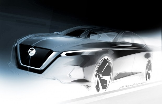 Официальный скетч седана Nissan Altima нового поколения