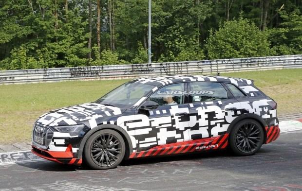 Audi тестирует свой первый электрический кроссовер