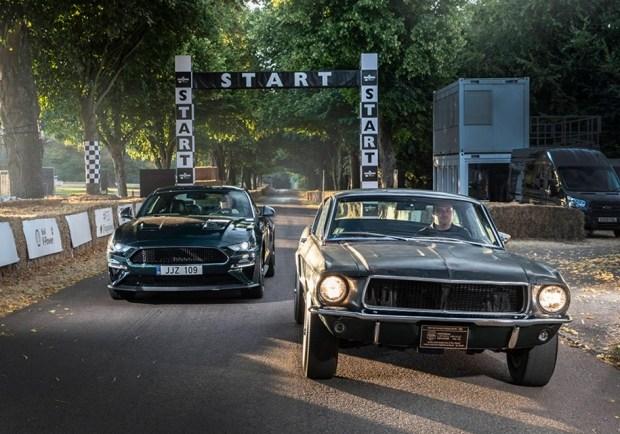 Современная спецверсия Mustan Bullitt и автомобиль из фильма