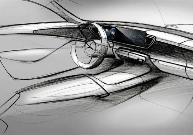 Эскиз интерьера нового Mercedes-Benz GLE