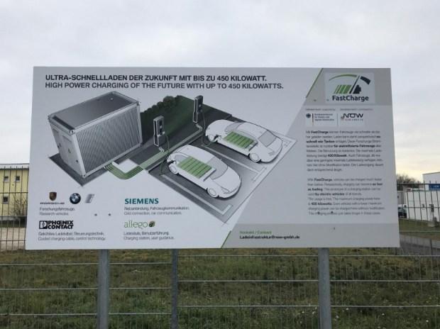 BMW иPorsche представили сверхбыструю зарядную станцию для электромобилей