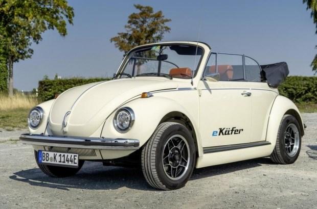 Традиционный Фольксваген Beetle переделали вэлектромобиль