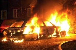 В Харькове поджог : три авто за ночь - на Стадионном проезде (ФОТО)