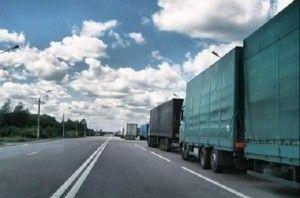 Автолюбителей грузовых автомобилей принудят ожидать при приезде в Киев