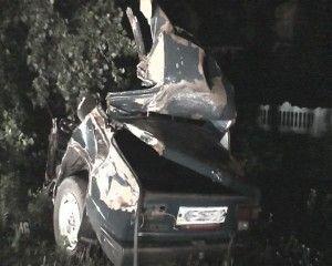 Авто с детьми налетел в дерево – трое мертвых