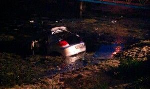 В Киеве девушка спутала педали и потопила автомашину в море
