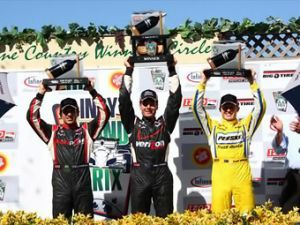 Гонщики Penske заняли весь помост на автогонке ИНДИКАР в Калифорнии