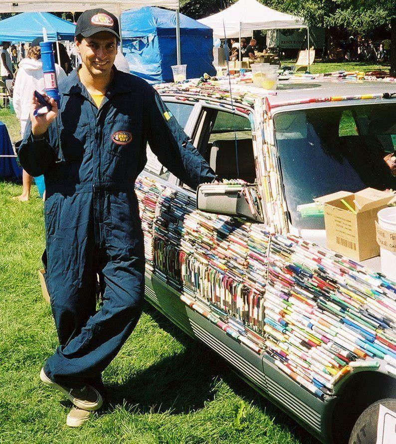 Что можно сделать имея фломастеры клей и машину.  (13 фото) - юмор, анекдоты, фотографии, игры.