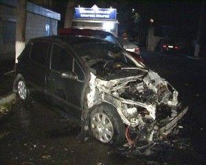 В эти дни в Киеве сгорели 3 авто