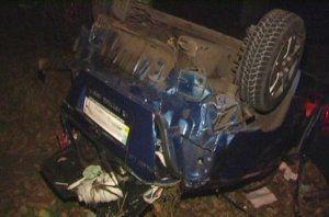 Авария в Киеве: водитель напился коньяка - авто вылетело с трассы и приземлилось на крыше