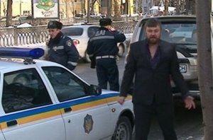 Опьяненный священник на внедорожнике бранил по центру Киева