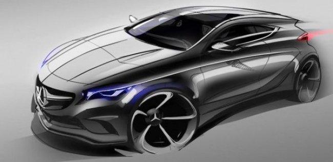 Компания Mercedes-Benz нарисовала тизер нового хэтчбека A-Class